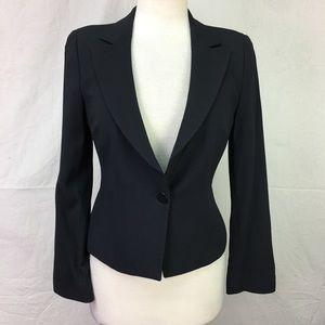 Armani Collezioni Navy Texture Blazer Jacket